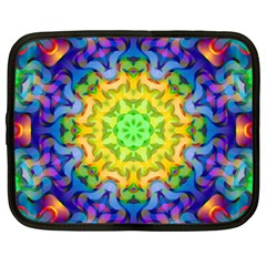 Psychedelic Abstract Netbook Sleeve (large) by Colorfulplayground