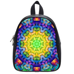 Psychedelic Abstract School Bag (small) by Colorfulplayground