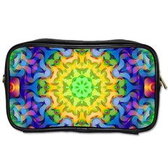 Psychedelic Abstract Travel Toiletry Bag (one Side) by Colorfulplayground
