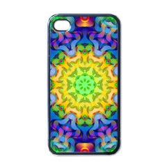 Psychedelic Abstract Apple Iphone 4 Case (black) by Colorfulplayground