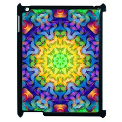 Psychedelic Abstract Apple Ipad 2 Case (black) by Colorfulplayground