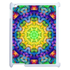 Psychedelic Abstract Apple Ipad 2 Case (white) by Colorfulplayground
