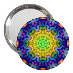 Psychedelic Abstract 3  Handbag Mirror by Colorfulplayground