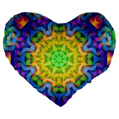 Psychedelic Abstract 19  Premium Heart Shape Cushion