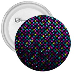 Polka Dot Sparkley Jewels 2 3  Button by MedusArt