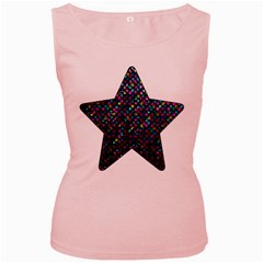 Polka Dot Sparkley Jewels 2 Women s Tank Top (pink) by MedusArt