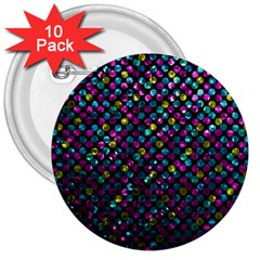 Polka Dot Sparkley Jewels 2 3  Button (10 Pack) by MedusArt