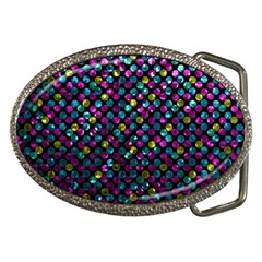 Polka Dot Sparkley Jewels 2 Belt Buckle (oval) by MedusArt