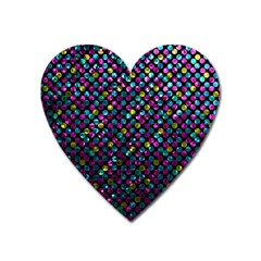 Polka Dot Sparkley Jewels 2 Magnet (heart) by MedusArt