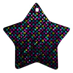 Polka Dot Sparkley Jewels 2 Star Ornament (two Sides) by MedusArt