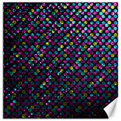 Polka Dot Sparkley Jewels 2 Canvas 16  X 16  (unframed) by MedusArt