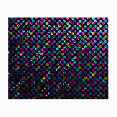 Polka Dot Sparkley Jewels 2 Glasses Cloth (small, Two Sided) by MedusArt