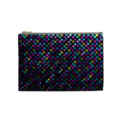 Polka Dot Sparkley Jewels 2 Cosmetic Bag (medium) by MedusArt