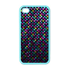 Polka Dot Sparkley Jewels 2 Apple Iphone 4 Case (color) by MedusArt