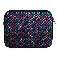 Polka Dot Sparkley Jewels 2 Apple Ipad Zippered Sleeve by MedusArt