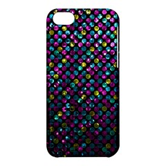 Polka Dot Sparkley Jewels 2 Apple Iphone 5c Hardshell Case by MedusArt