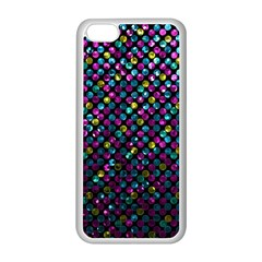 Polka Dot Sparkley Jewels 2 Apple Iphone 5c Seamless Case (white) by MedusArt