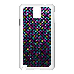 Polka Dot Sparkley Jewels 2 Samsung Galaxy Note 3 N9005 Case (white) by MedusArt