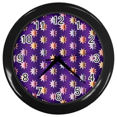 Flare Polka Dots Wall Clock (black) by Colorfulplayground