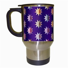 Flare Polka Dots Travel Mug (white) by Colorfulplayground