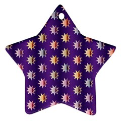 Flare Polka Dots Star Ornament (two Sides) by Colorfulplayground