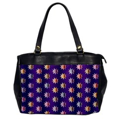 Flare Polka Dots Oversize Office Handbag (one Side) by Colorfulplayground
