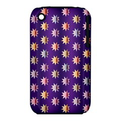 Flare Polka Dots Apple Iphone 3g/3gs Hardshell Case (pc+silicone)