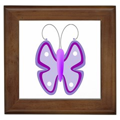 Cute Awareness Butterfly Framed Ceramic Tile