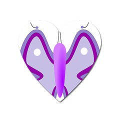 Cute Awareness Butterfly Magnet (heart) by FunWithFibro