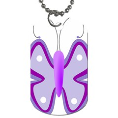 Cute Awareness Butterfly Dog Tag (one Sided) by FunWithFibro