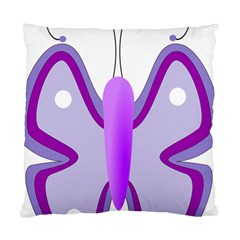 Cute Awareness Butterfly Cushion Case (two Sided)  by FunWithFibro
