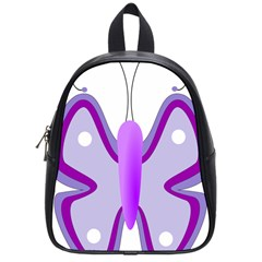 Cute Awareness Butterfly School Bag (small)