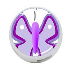 Cute Awareness Butterfly 4 Port Usb Hub (one Side) by FunWithFibro