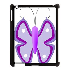 Cute Awareness Butterfly Apple Ipad 3/4 Case (black) by FunWithFibro