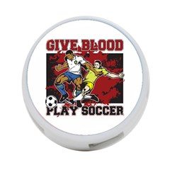 Give Blood Play Soccer 4 Port Usb Hub (two Sides) by MegaSportsFan
