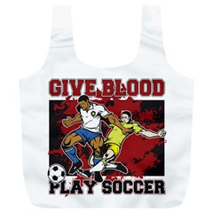 Give Blood Play Soccer Full Print Recycle Bag (xl)