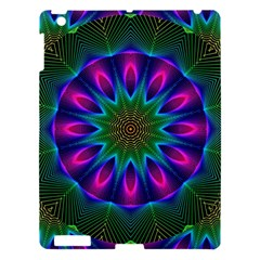 Star Of Leaves, Abstract Magenta Green Forest Apple Ipad 3/4 Hardshell Case by DianeClancy