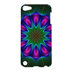 Star Of Leaves, Abstract Magenta Green Forest Apple Ipod Touch 5 Hardshell Case by DianeClancy