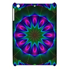Star Of Leaves, Abstract Magenta Green Forest Apple Ipad Mini Hardshell Case by DianeClancy