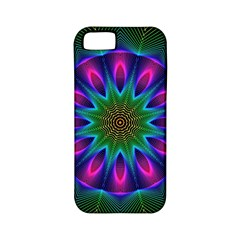 Star Of Leaves, Abstract Magenta Green Forest Apple Iphone 5 Classic Hardshell Case (pc+silicone) by DianeClancy