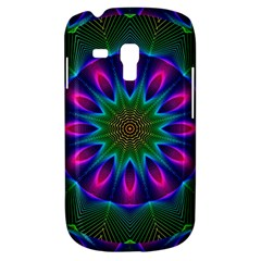 Star Of Leaves, Abstract Magenta Green Forest Samsung Galaxy S3 Mini I8190 Hardshell Case by DianeClancy