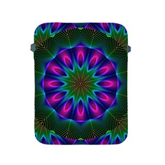 Star Of Leaves, Abstract Magenta Green Forest Apple Ipad Protective Sleeve