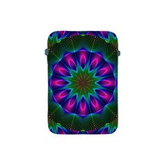 Star Of Leaves, Abstract Magenta Green Forest Apple Ipad Mini Protective Sleeve by DianeClancy