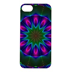 Star Of Leaves, Abstract Magenta Green Forest Apple Iphone 5s Hardshell Case by DianeClancy