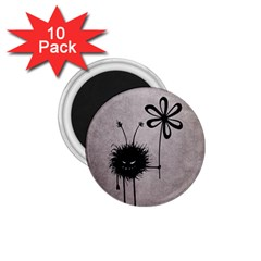 Evil Flower Bug Vintage 1 75  Button Magnet (10 Pack)
