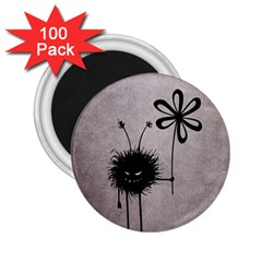 Evil Flower Bug Vintage 2 25  Button Magnet (100 Pack) by CreaturesStore