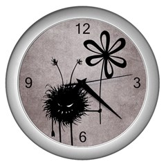 Evil Flower Bug Vintage Wall Clock (silver) by CreaturesStore