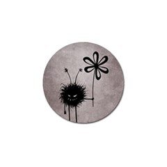 Evil Flower Bug Vintage Golf Ball Marker