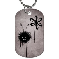 Evil Flower Bug Vintage Dog Tag (two Sided)  by CreaturesStore