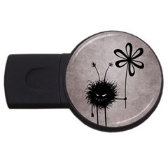 Evil Flower Bug Vintage 2gb Usb Flash Drive (round) by CreaturesStore
